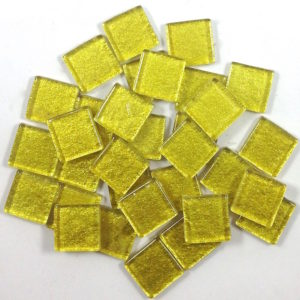 Glass Mosaic Glitter 15x15mm Square