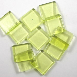 Glass Mosaic Transparent 15x15mm Square