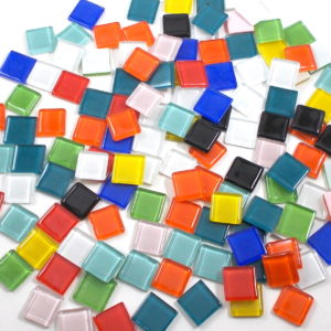 Glass Mosaic Glossy 15x15mm Square