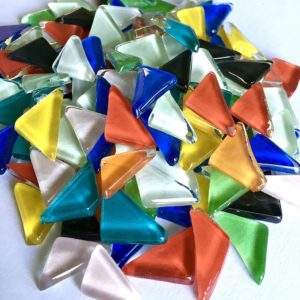 Glass Mosaic Glossy 12-18mm Triangles