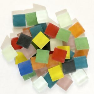 Glass Mosaic Frosted 15x15mm Square