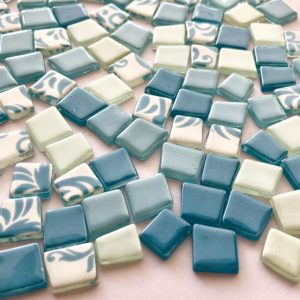 Glass Mosaic Pastel Mix 12-15 Thin Trapezoids