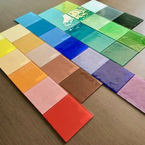Glass Tiles Glossy Solid 4x4""