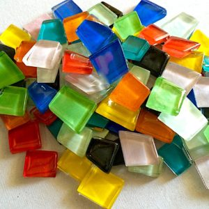 Glass Mosaic Glossy 12-18mm Trapezoids Thick
