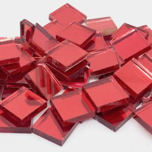 Glass Mosaic Colour Mirrors 15x15mm Thick Square