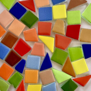 Glass Mosaic Bright Colour 15x15mm Mixed Shape
